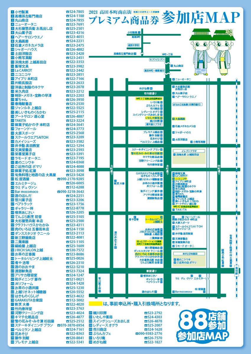 高田本町商店街プレミアム商品券
